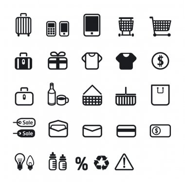 Shopping icons set design.