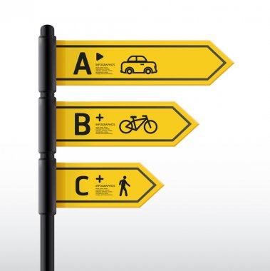 Modern road sign Design template, can be used for infographics