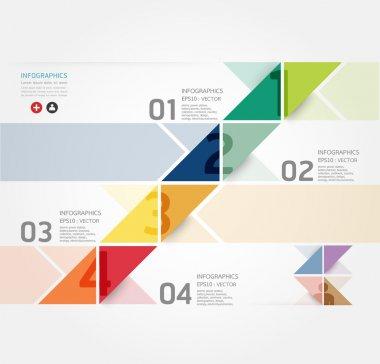 современный дизайн минималистском стиле инфографики шаблон, может использоваться для инфографики, пронумерованных баннеры, горизонтальный вырез линии, рисунок или веб-сайт макет вектор