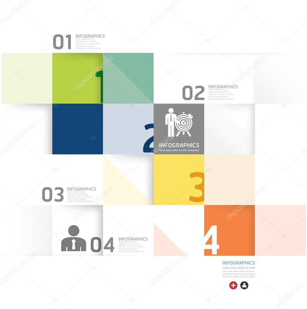 Modern Design Minimal style infographic template