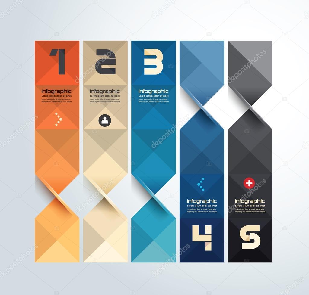 plantilla de infografía diseño gráfico moderno geométrica — Archivo ...