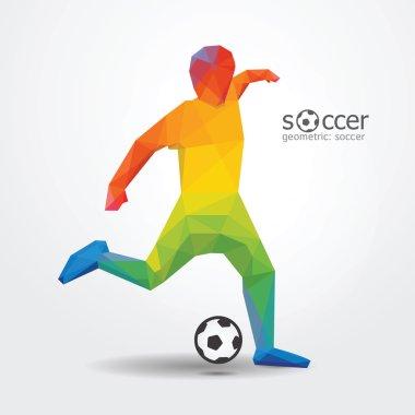 Soccer football kick striker player
