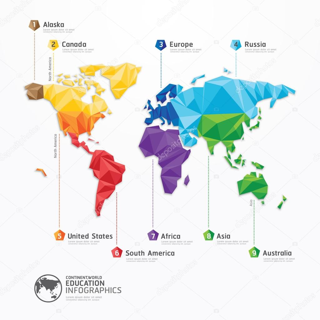 World map illustration infographics stock vector pongsuwan world map illustration infographics geometric concept design vector template vector by pongsuwan gumiabroncs Choice Image