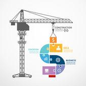 Fényképek építési torony daru kirakós játék banner