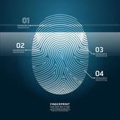 Fingerabdruck-Scan-Vektor-illustration