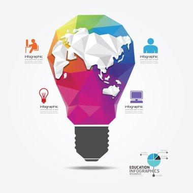 Light geometric style infographic template