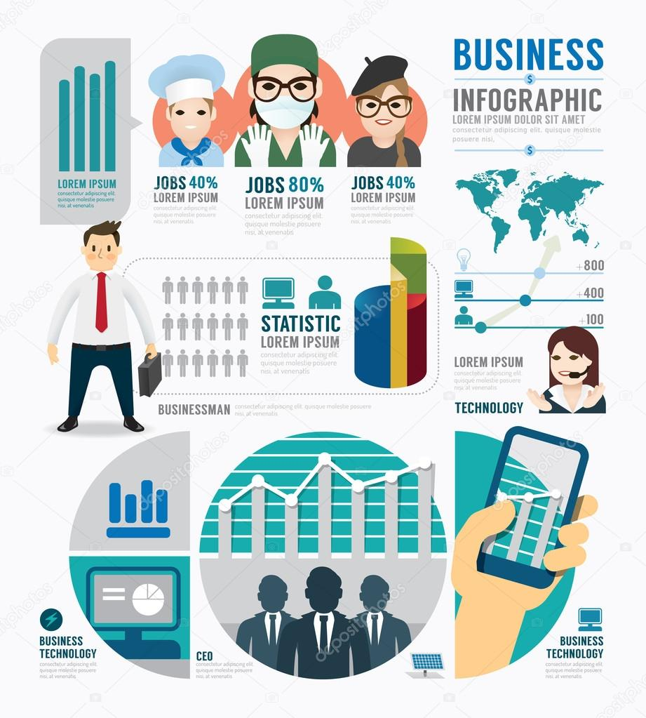 Infographic Business job template design