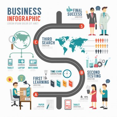 Infographic business template design .