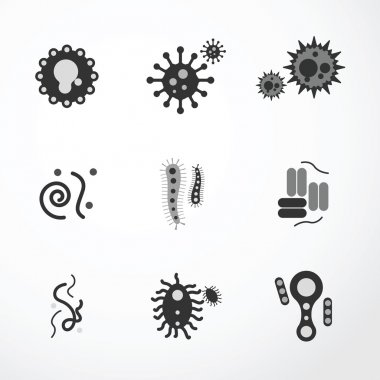 Black virus  icons
