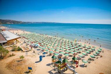 Panoramic view of Golden Sands beach, Bulgaria.