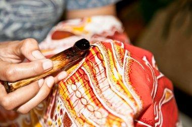 Batik Javanese technique. Indonesia.