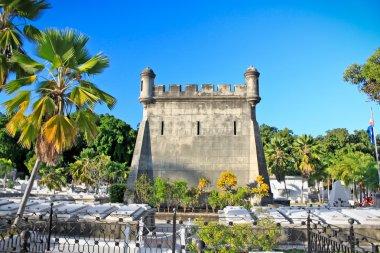 Graves at cemetery Santa Ifigenia in Santiago de Cuba