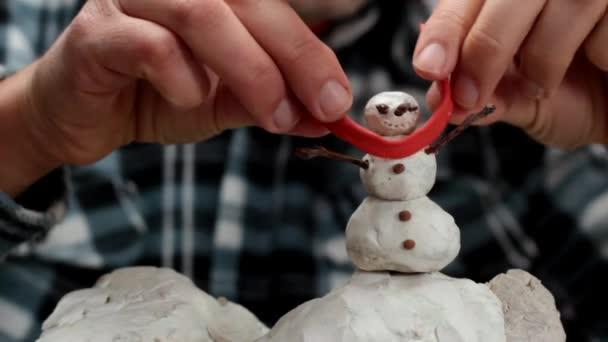 miniaturní sněhulák