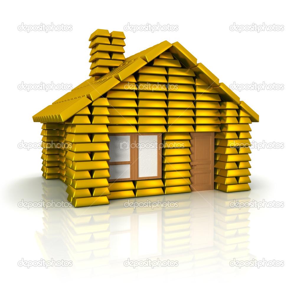 Casa de lingotes de oro fotos de stock jainaproudmoore for House of 950