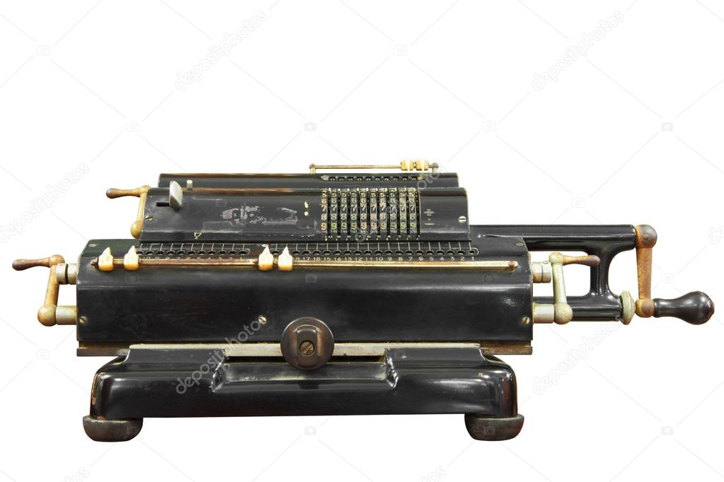0ab086694a5 Vintage calculator with clipping path. — Stock Photo © kongsky #46060251