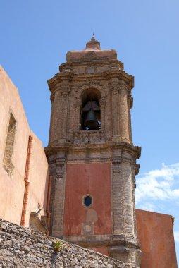 Tower of Saint Giuliano church in Erice. Sicily, Italy