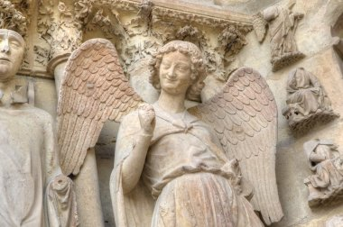 Smiling angel. Notre-Dame de Reims Cathedral. Reims, France