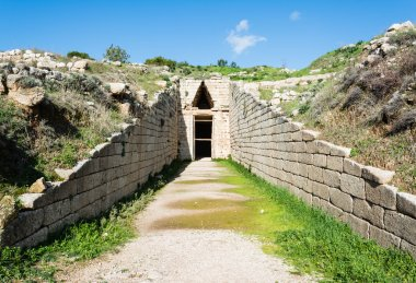 Treasury of atreus at mycenae, Greece