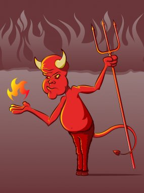 Devil in Hell Cartoon