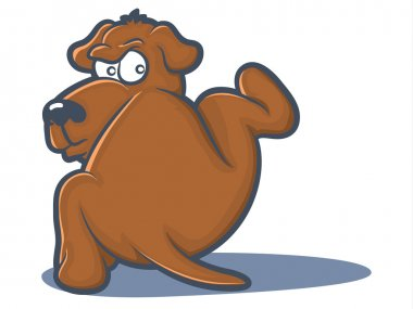 Urinating Dog Cartoon