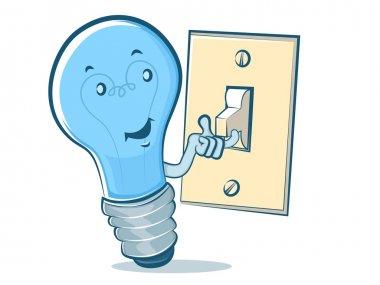 Lightbulb Blue Man