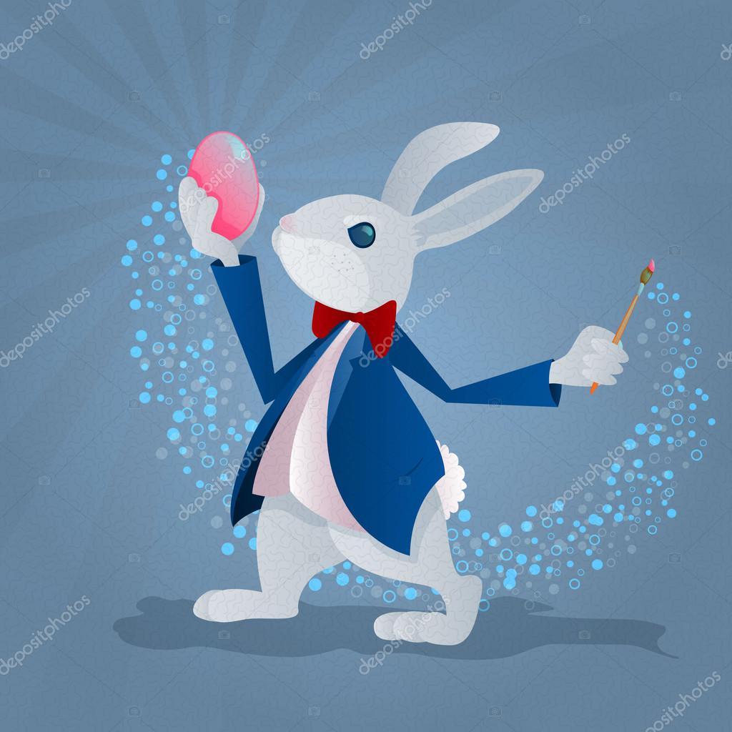 Ilustración del conejito de Pascua — Archivo Imágenes Vectoriales ...