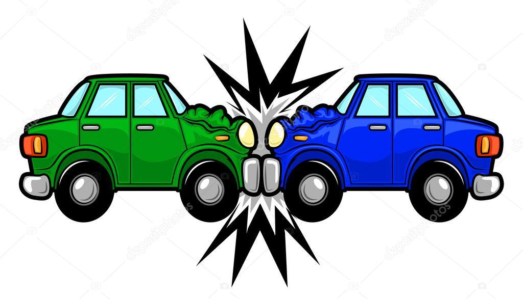 car accident cartoon stock vector gleighly 45578713 rh depositphotos com car accident cartoon images car accident cartoon images