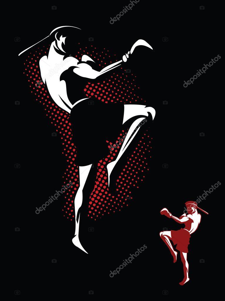 Kickboxer Illustration