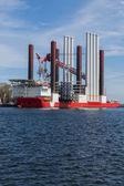Fotografie großes Schiff im Hafen von Gdynia, Polen