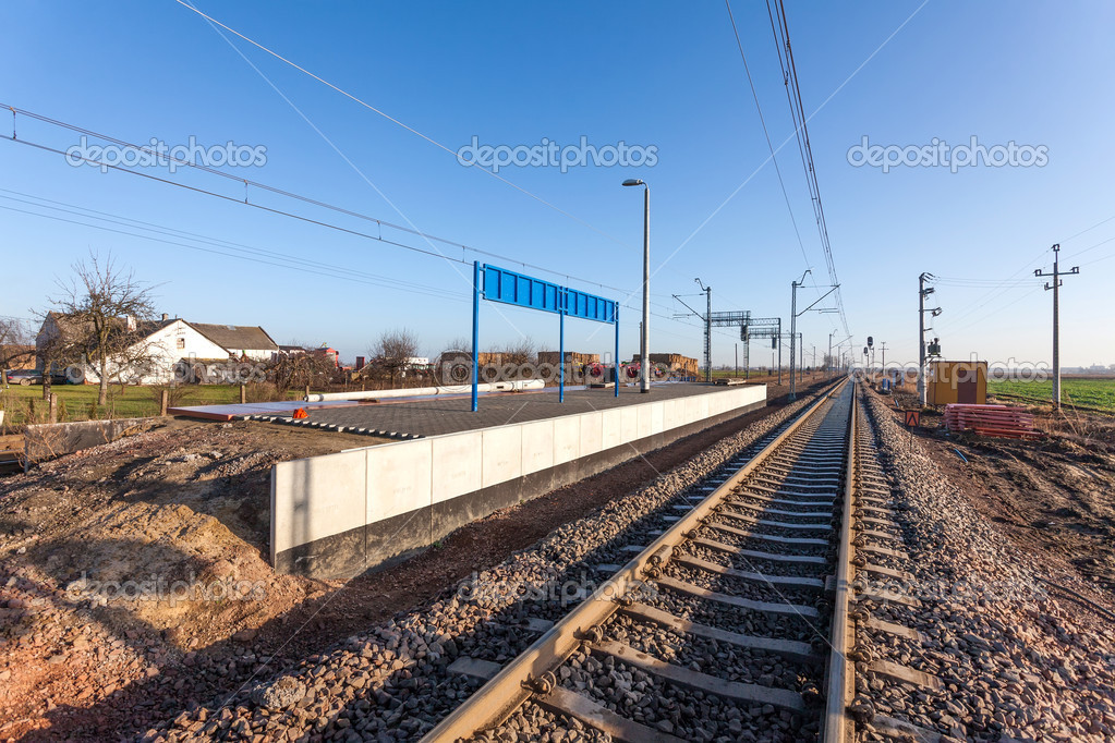 Railway platform under construction — Stock Photo
