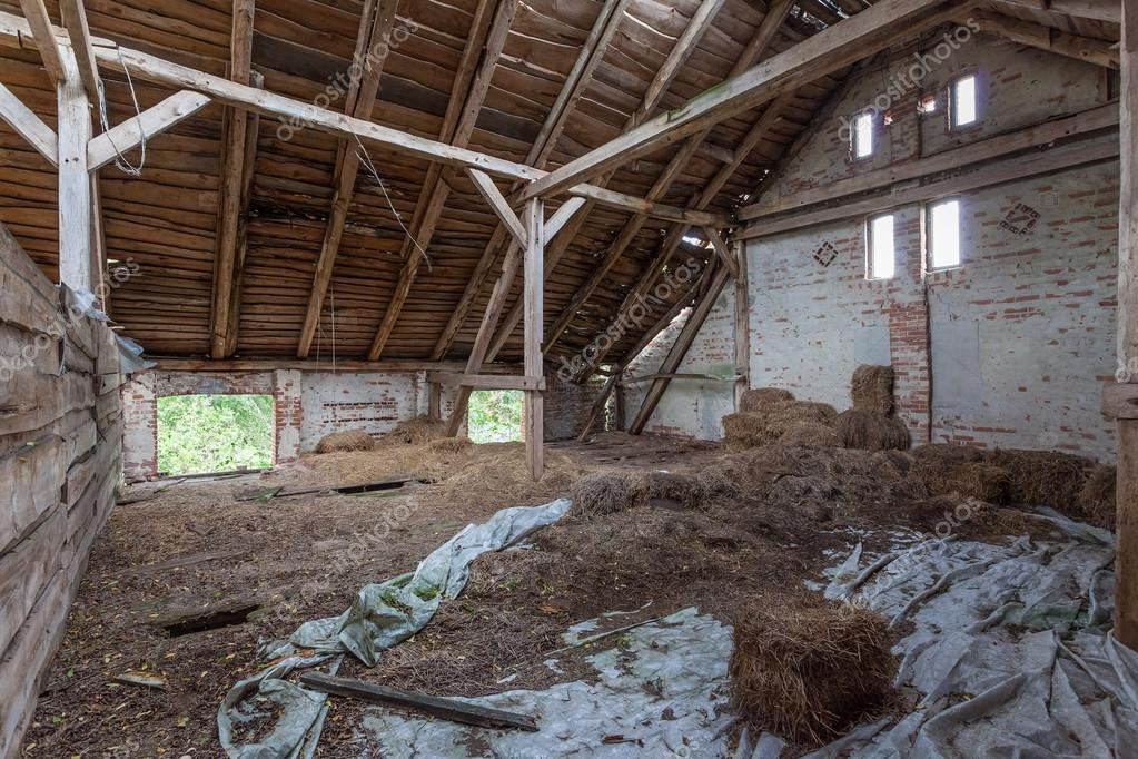 Old Built Of Wood And Brick Abandoned Barn Photo By ScorpionPL