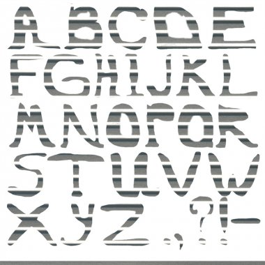 Letters abc done from textured metal background, silver background stock vector