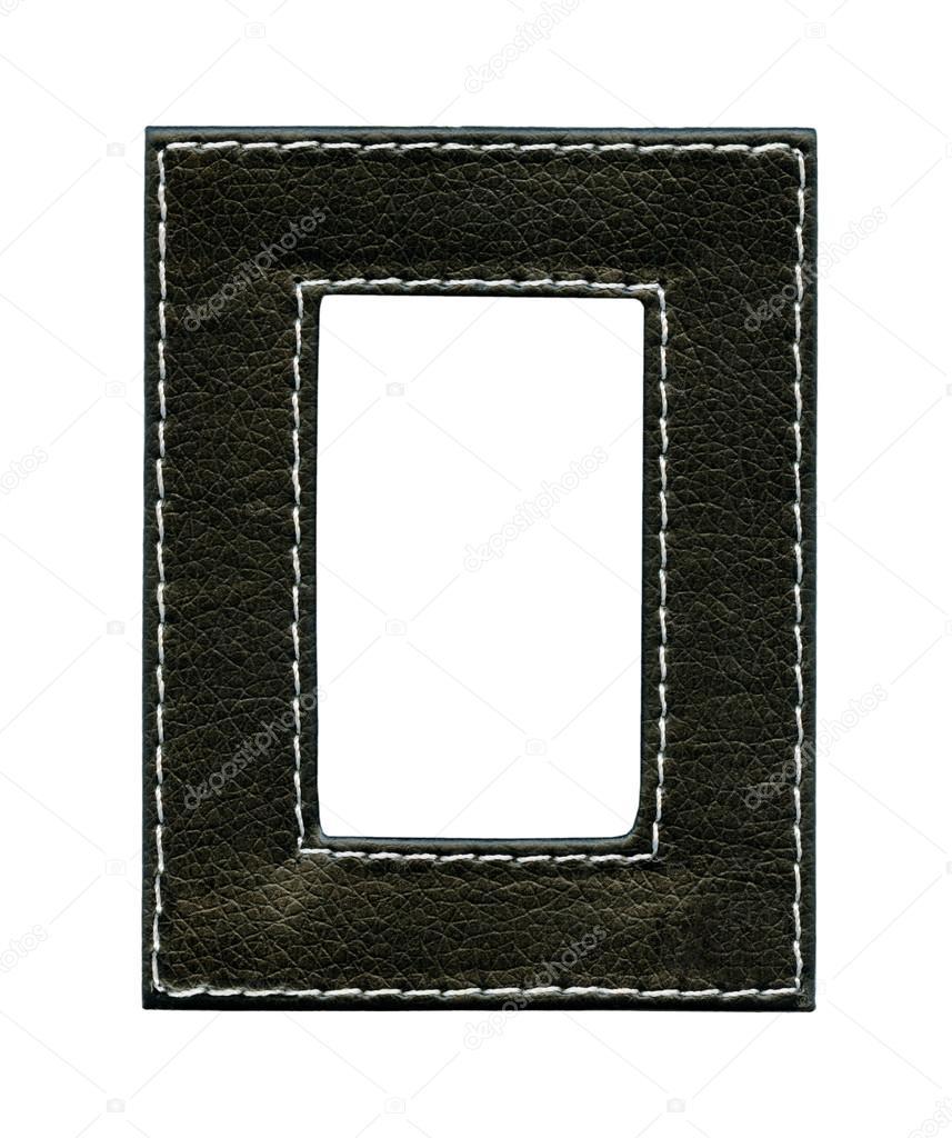 marco de cuero negro — Fotos de Stock © natalt #21636229