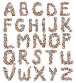 Fotografia collage fatto di ritaglio di giornale, lettere, abc
