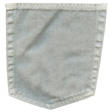 closeup of gray denim pocket