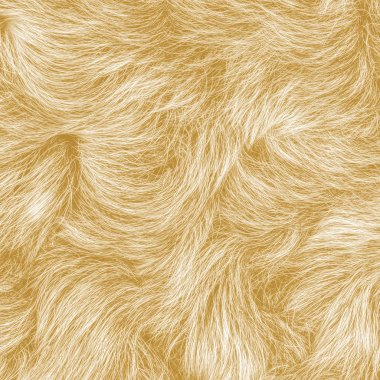 Yellow fur texture stock vector