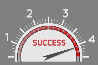 Success speedometer business concept clip art vector