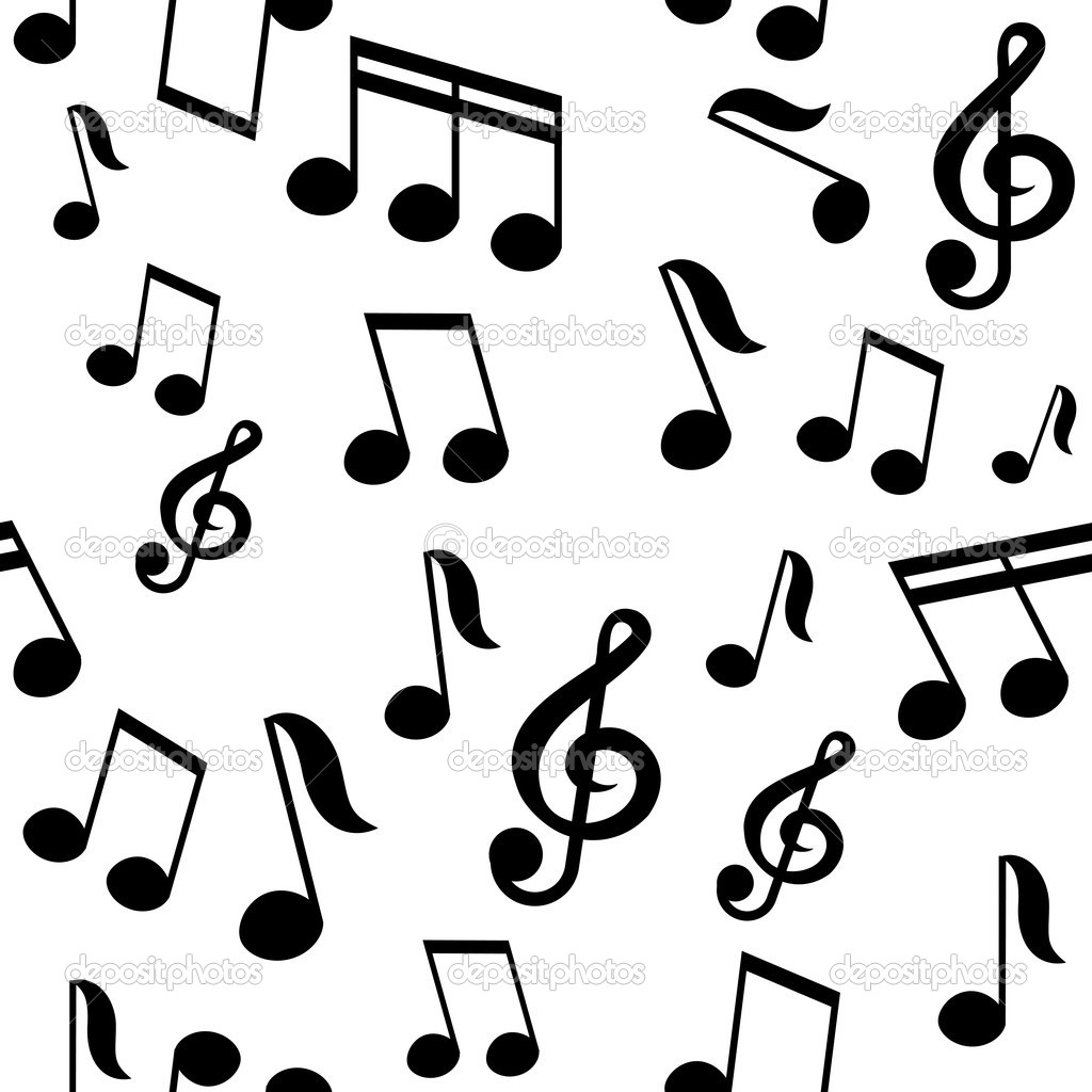 vector seamless pattern with music notes stock vector korobovaok rh depositphotos com Music Note Icon Music Notes Graphics