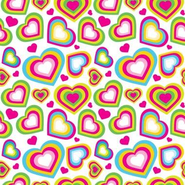 Vector seamless pattern of heart
