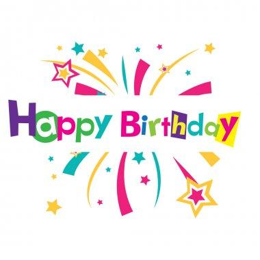 Vector happy birthday clip art vector