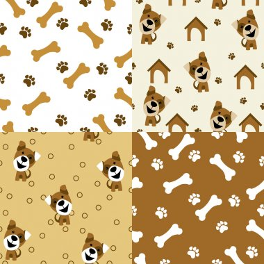 Vector seamless pattern dog