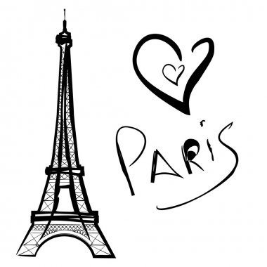 vector illustration of Paris, the Eiffel Tower