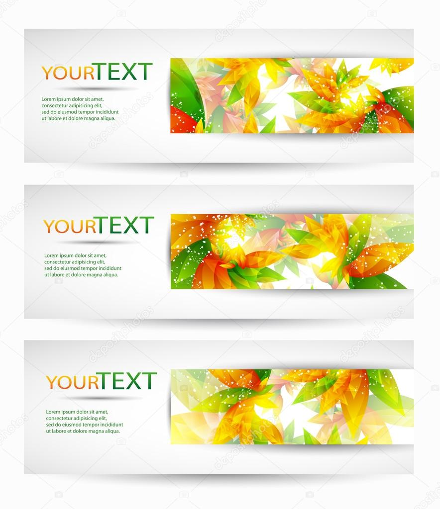 Abstract vector headers with place for your text
