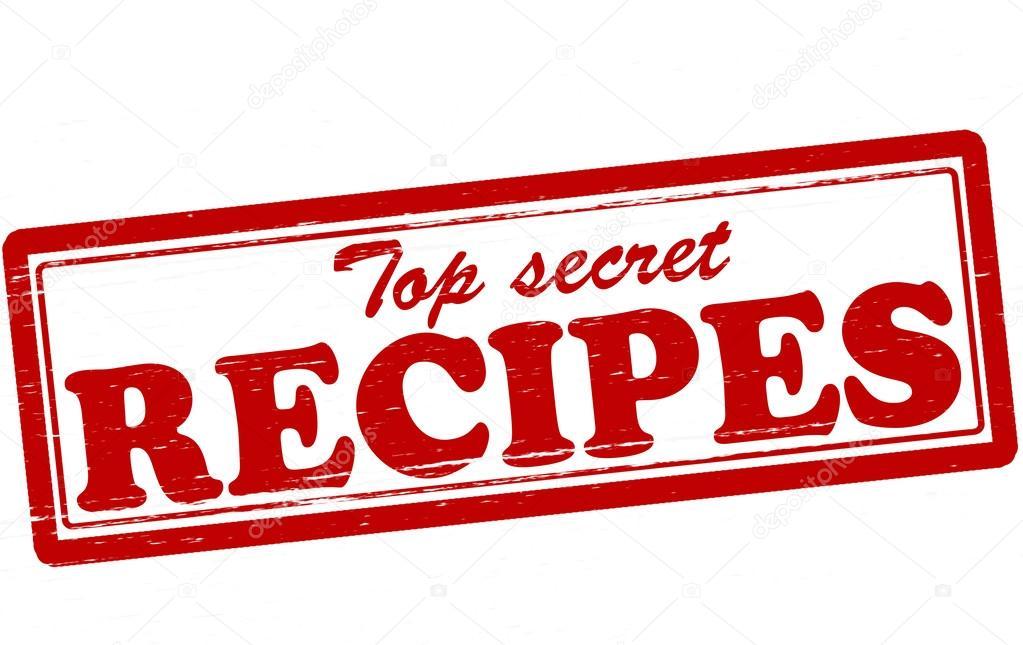 Top secret recipes — Stock Vector © carmenbobo #46975845