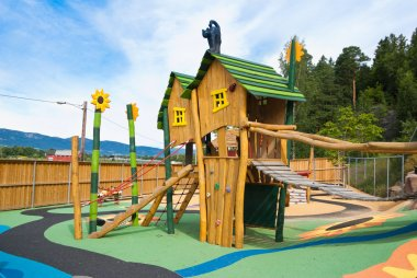 Big colorful children playground equipment