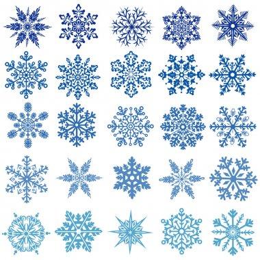 Set of vectors snowflakes stock vector