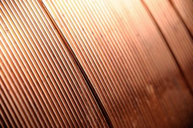 closeup copper wire