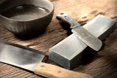 sharpening the knife