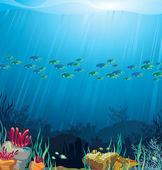 barriera corallina e pesci