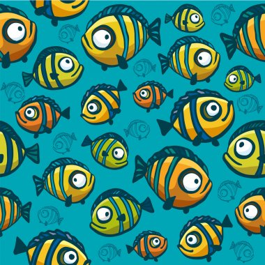 Fish wallpaper - seamless pattern